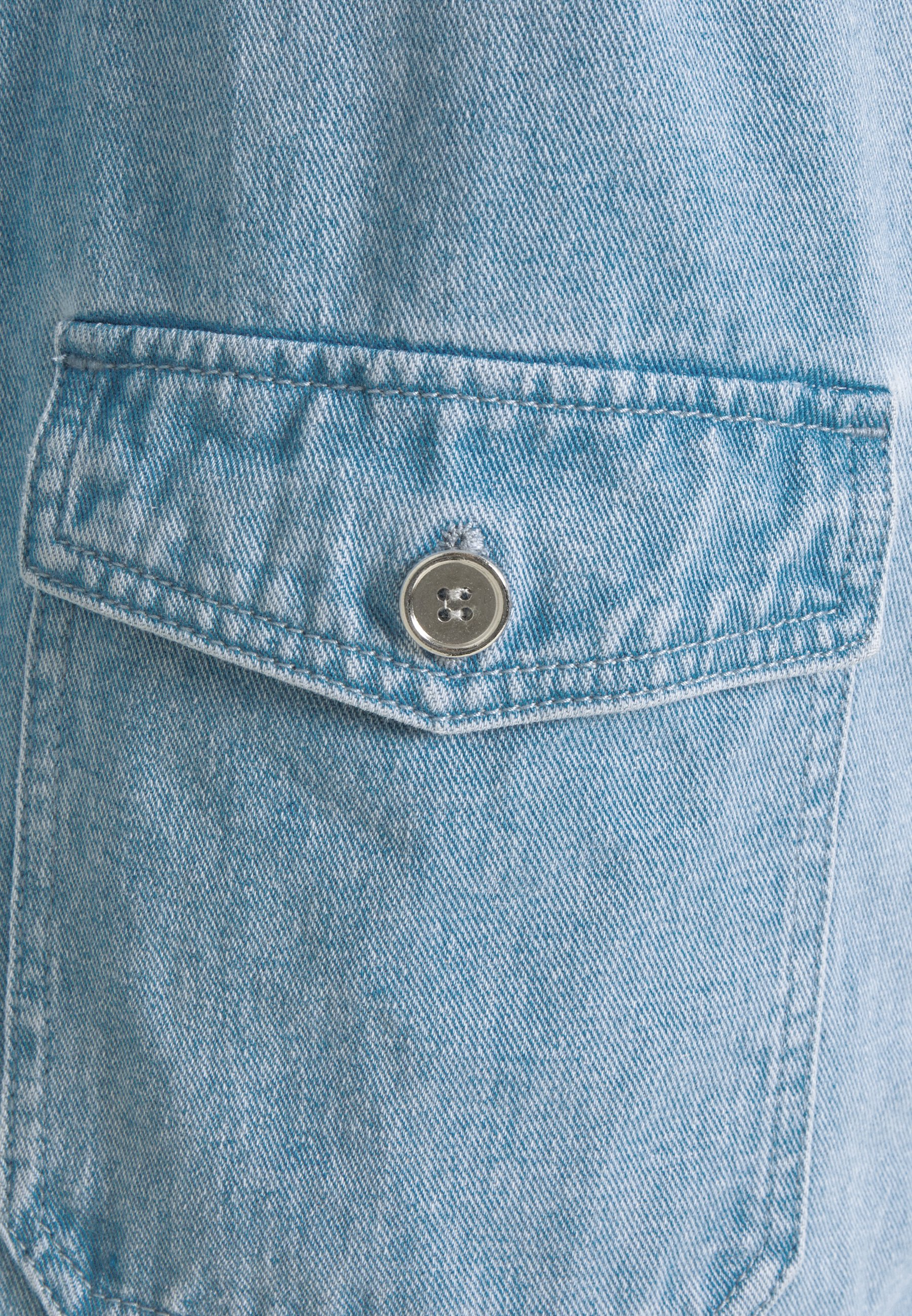 Missguided Petite UTILITY POCKET BELTED DRESS Jeanskleid light blue/hellblau