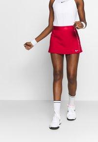 Nike Performance - DRY SKIRT - Sports skirt - gym red/white - 0