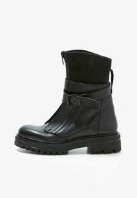 Inuovo - Cowboy- / bikerstøvlette - black blk - 1