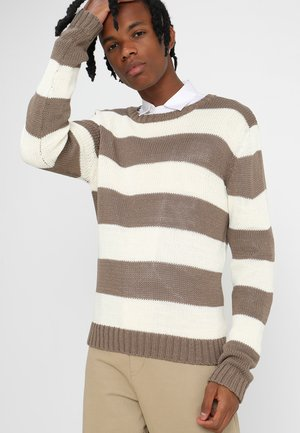 STRIPED - Jumper - beige/offwhite