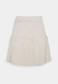Noisy May Petite - NMFENJA SMOCK SKIRT - Mini skirt - snow white - 1
