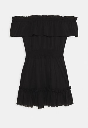 BARDOT FRILL BEACH DRESS - Doplňky na pláž - black