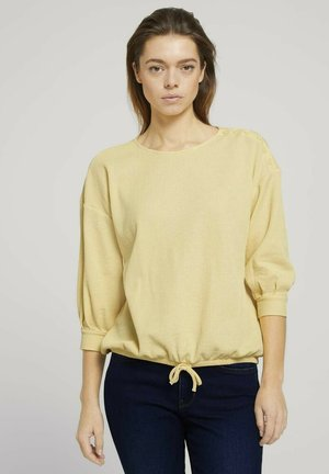 Long sleeved top - soft yellow
