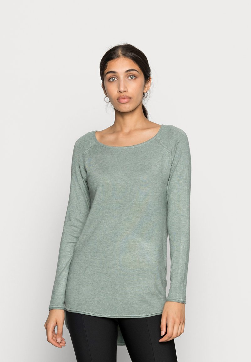 ONLY - ONLMILA LACY LONG - Jumper - chinois green melange