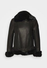 STUDIO ID - BIKER JACKET - Leather jacket - black/dark grey - 6