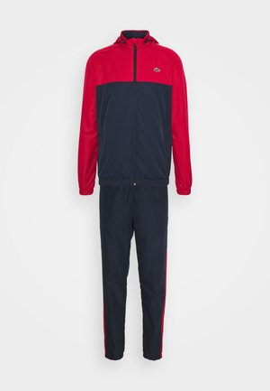 TRACK SUIT - Chándal - navy blue/ruby/white