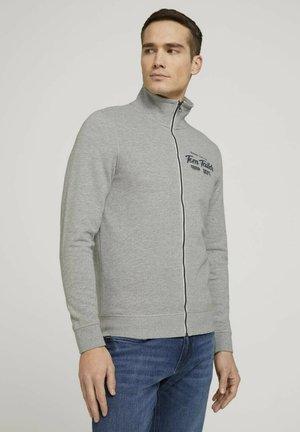MIT PRINT - Zip-up hoodie - middle grey melange