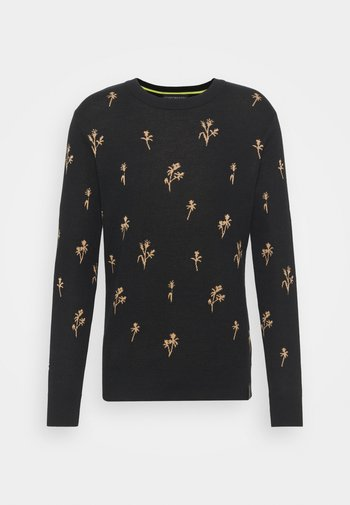 CREWNECK WITH ALLOVER PATTERN
