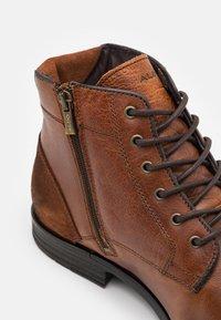 ALDO - OLIELLE - Šněrovací kotníkové boty - cognac - 5