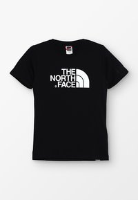 The North Face - YOUTH EASY UNISEX - T-shirt print - black/white - 0