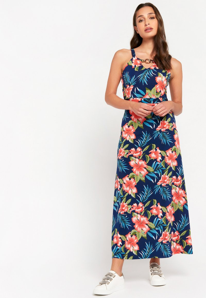 LolaLiza - WITH PRINT AND HALTER-NECK - Maxi dress - light blue