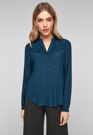 MET RIMPELING - Button-down blouse - moonlight ocean