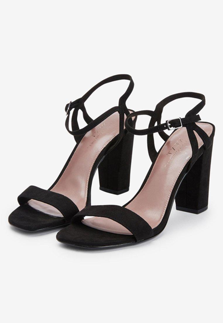Next BLACK BLOCK HEEL DELICATE SANDALS - Sandalen met hoge hak - black - Damesschoenen Hot Koop
