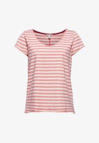 Esprit - SLUB - Print T-shirt - pink - 6