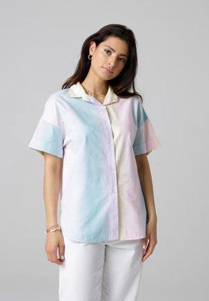 Button-down blouse - gelb/rosa/blau