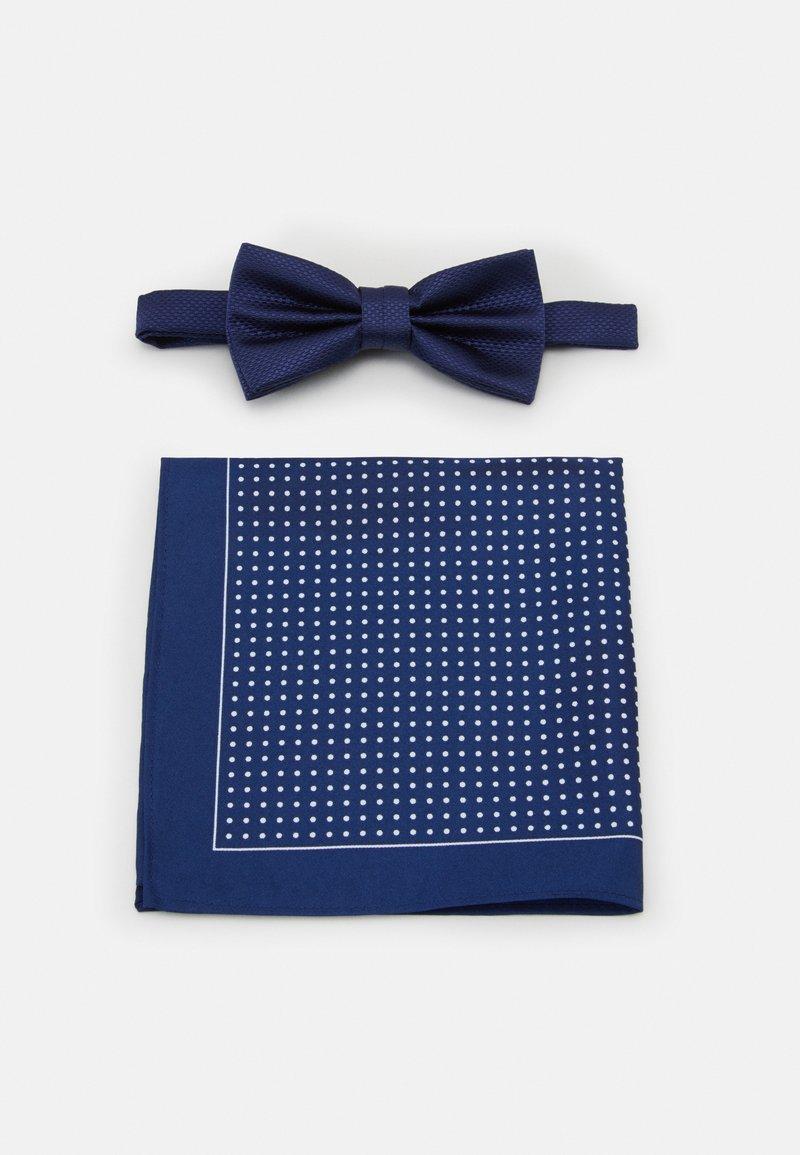 Pier One - SET - Pocket square - dark blue