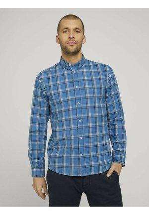 Shirt - blue space yarn check