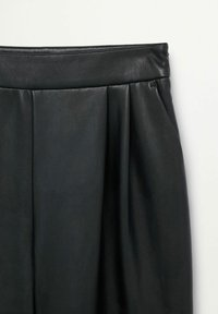 Mango - SIENA - Leather trousers - zwart - 6