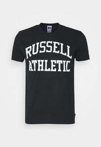 Russell Athletic Eagle R - ARCH LOGO CREWNECK TEE UNISEX - Print T-shirt - black - 0