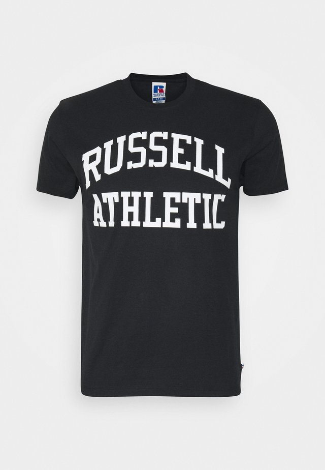 ARCH LOGO CREWNECK TEE UNISEX - Camiseta estampada - black