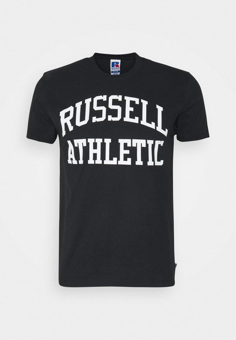 Russell Athletic Eagle R - ARCH LOGO CREWNECK TEE UNISEX - Print T-shirt - black