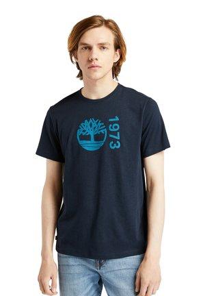 T-shirt med print - dark sapphire