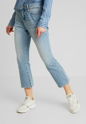 CROP - Flared Jeans - light-blue