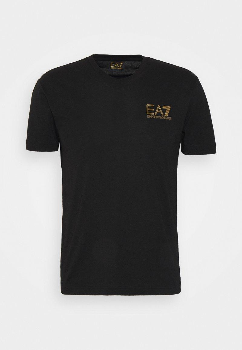 EA7 Emporio Armani - Triko spotiskem - black/gold