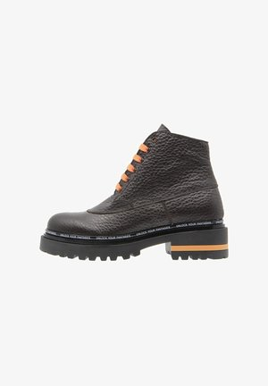 LIMITLESS - Veterboots - marrón oscuro