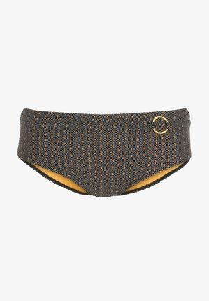 Bikiniunderdel - black with yellow