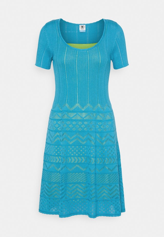 ABITO - Strickkleid - mottled teal