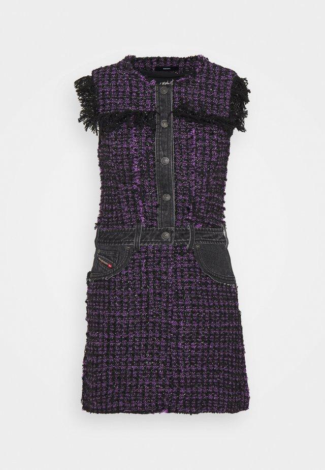 D-OLGA - Korte jurk - black/purple