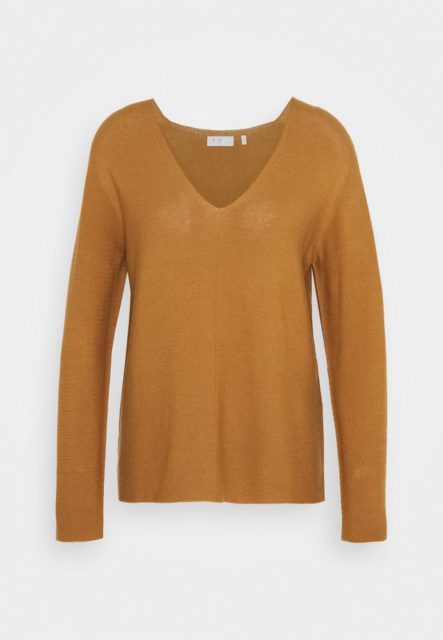 V NECK  - Jumper - toffee