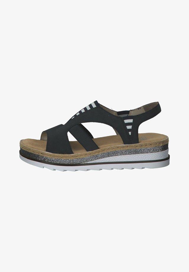 Sandalen met sleehak - pazifik