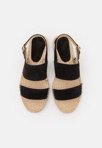 JUTELAUNE - STRIPE  - Sandals - black - 5