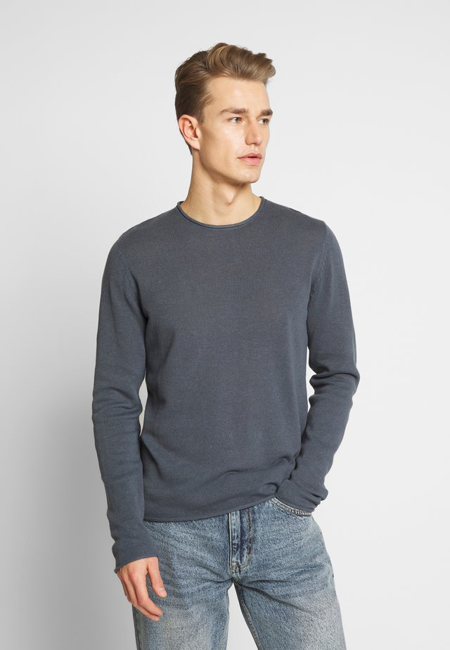 JPRBLALINEN CREW NECK - Jersey de punto - dark dusty blue