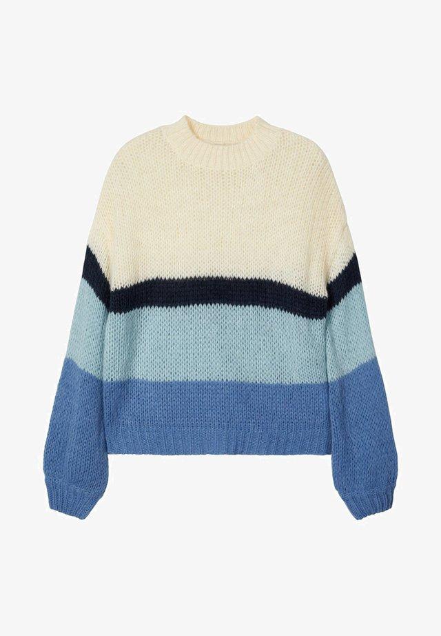 NLFNAIARA  - Stickad tröja - blue yonder