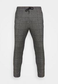 Only & Sons - ONSLINUS CROP CHECK PANTS - Trousers - grey melange - 4