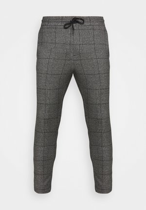 ONSLINUS CROP CHECK PANTS - Broek - grey melange
