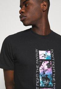 HUF - NATURAL HIGH TEE - Print T-shirt - black - 6
