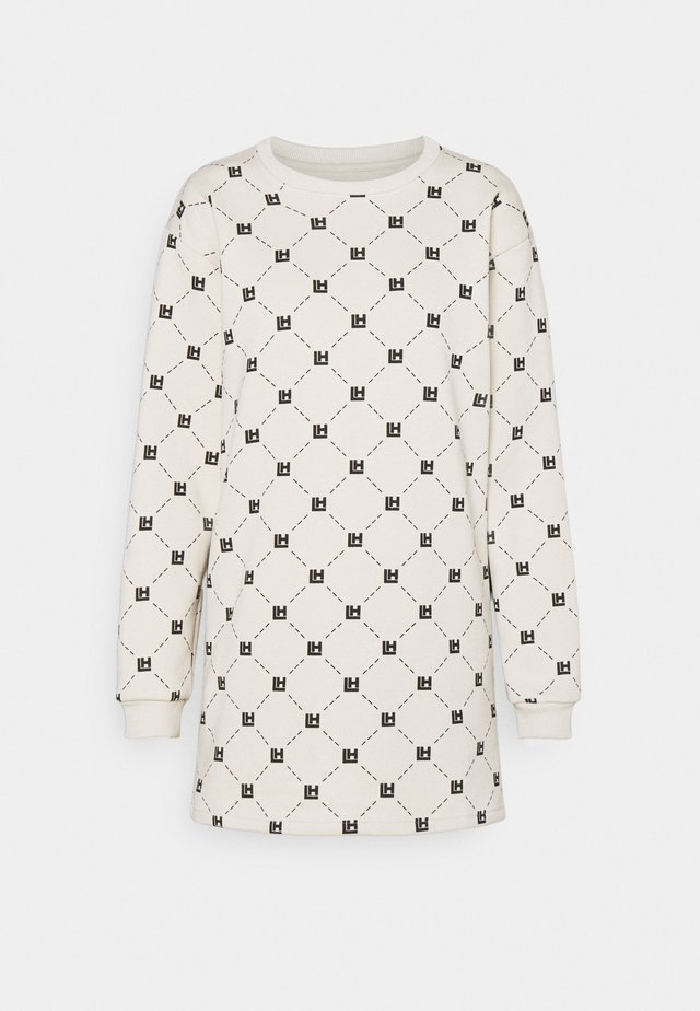 MONOGRAM NUDE LONGSLEEVE DRESS - Kjole - beige/black