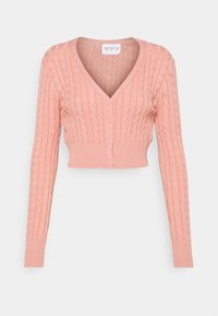 Glamorous - CABLE KNIT CROPPED  - Cardigan - dusty peach - 4