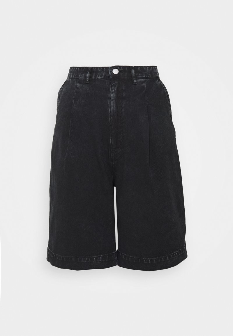 Monki - NANETTE  - Shorts di jeans - black dark asia