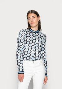 Emily van den Bergh - BLOUSE - Blouse - blue dots - 0