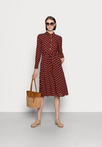 King Louie - SHEEVA DRESS PABLO - Shirt dress - merlot brown - 1