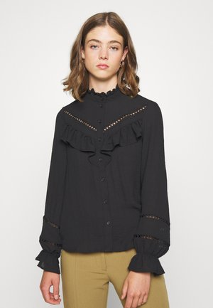 VMZIGGA DETAIL - Button-down blouse - black