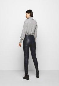 STUDIO ID - LENA  - Leather trousers - blue night - 2