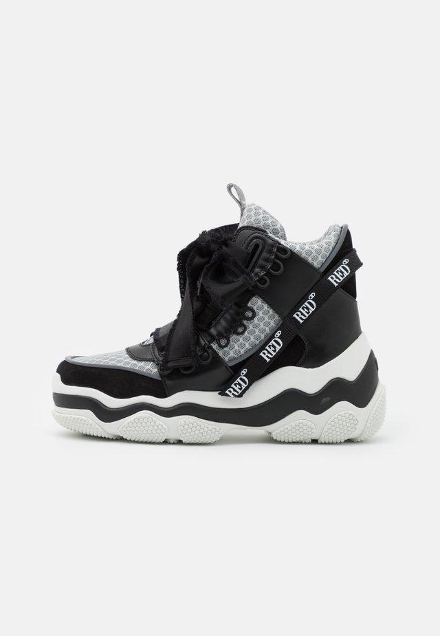 Sneakersy wysokie - nero/argento/bianco