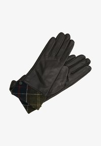 Barbour - LADY JANE GLOVE - Gloves - choc with green - 1