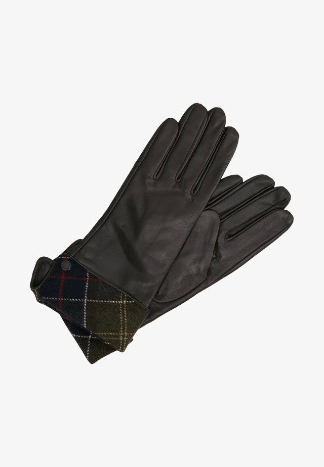 LADY JANE GLOVE - Gloves - choc with green